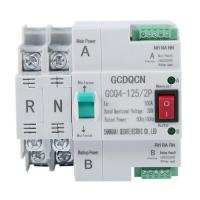 Dual-Power Automatic Transfer Switch 2P 100A Household 35mm Rail Installation G2H4