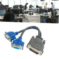 Dual Monitor Splitter Cable - DMS-59 Pin Male to 2 VGA 15 Pin Female Splitter Adapter Cable For sale in Nigeria
