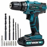 Mylek 18v Cordless Drill Complete with 13 Piece Accessories